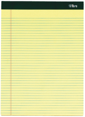 yellow lined notepad