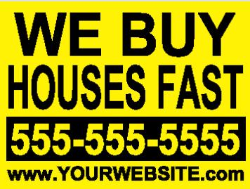 we-buy-houses bandit sign