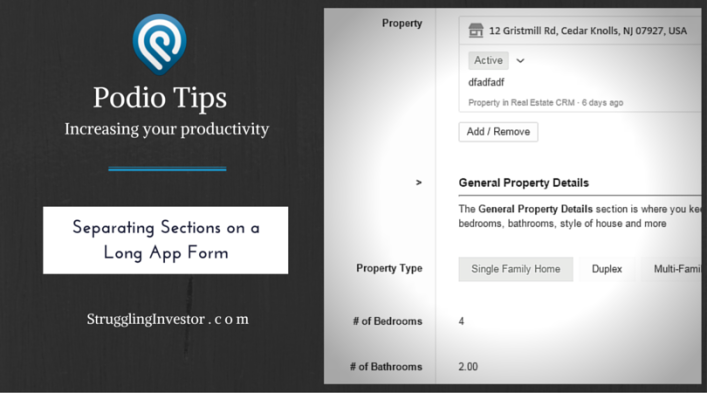 Podio Tips Section Header